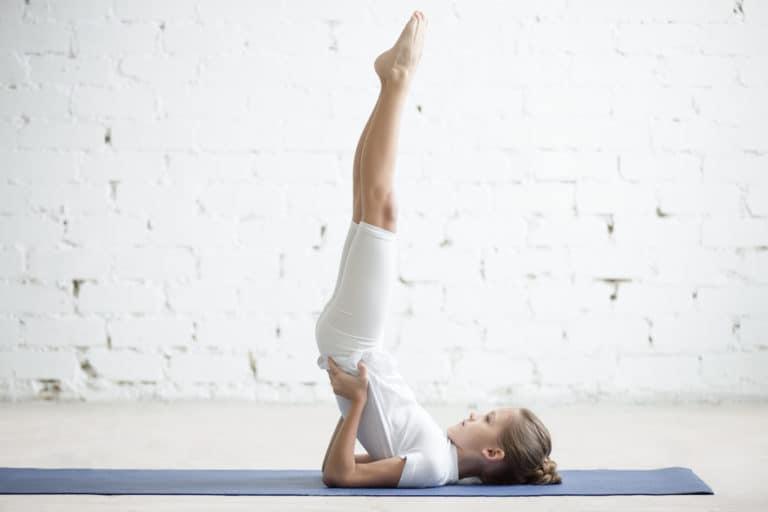 Kinderyoga Schulterstand Yoga für Kinder