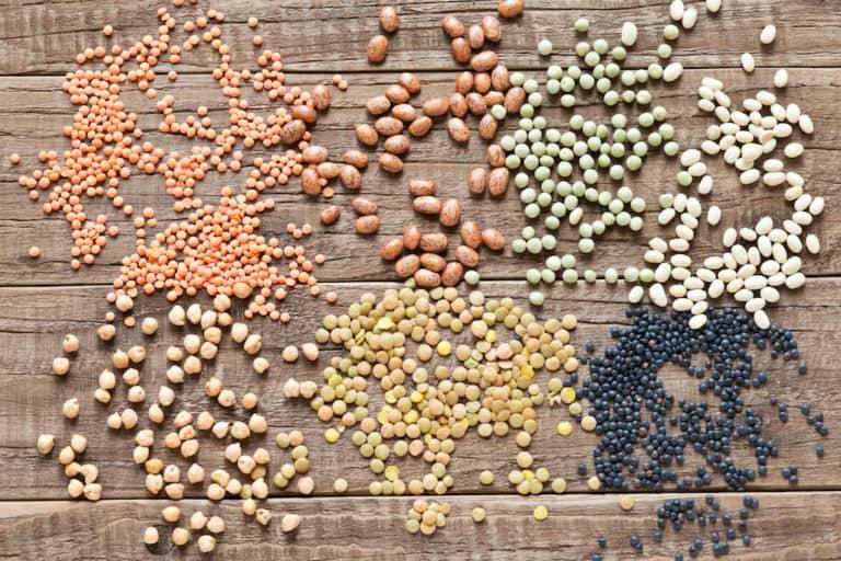 mikronährstoffe foto erbsen bohnen schwarz grün orange