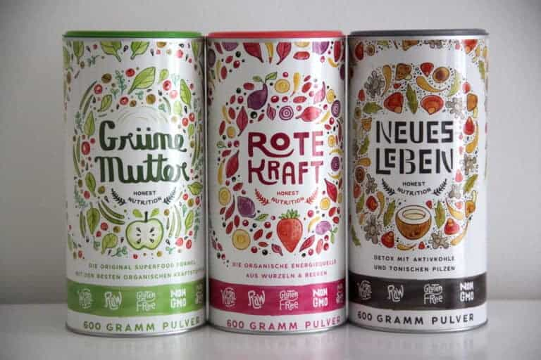 Superfood Shakes Alpha Foods gruene mutter rote kraft neues leben katawan test