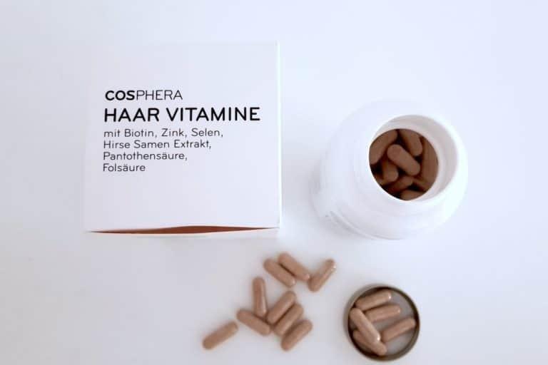 cosphera Haar Vitamine Kapseln Verpackung Dose von oben