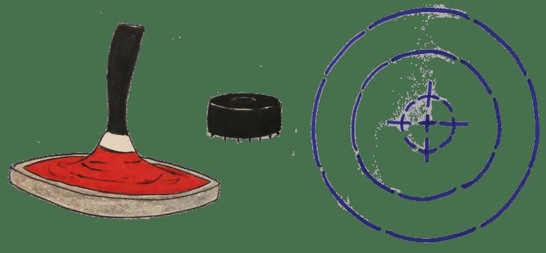 Eisstock Daube Zielbereich katawan