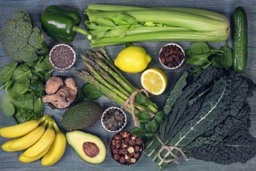 Alkalische Lebensmittel Nahrung Alkaline Grünzeug Spargel