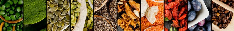 Gesunde Nahrung Kürbiskern Erbsen Kaffee Linsen
