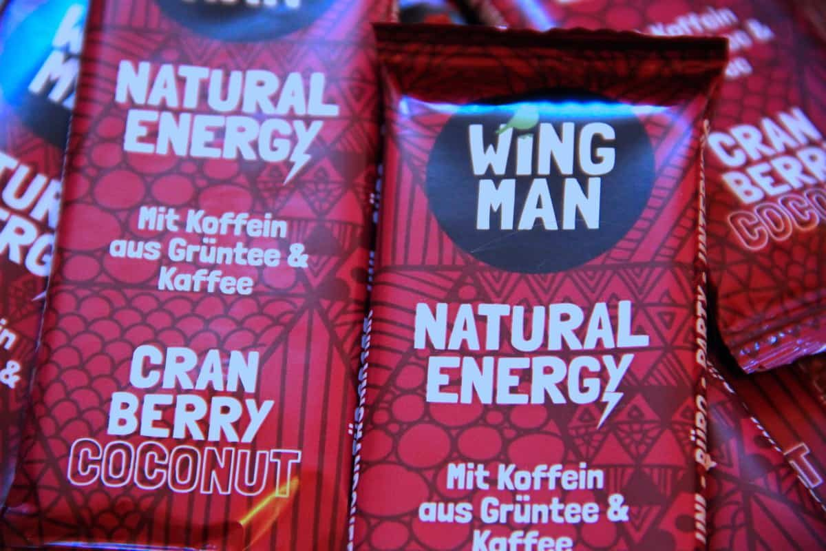 Wingman Natural Energy Cranberry Coconut Riegel