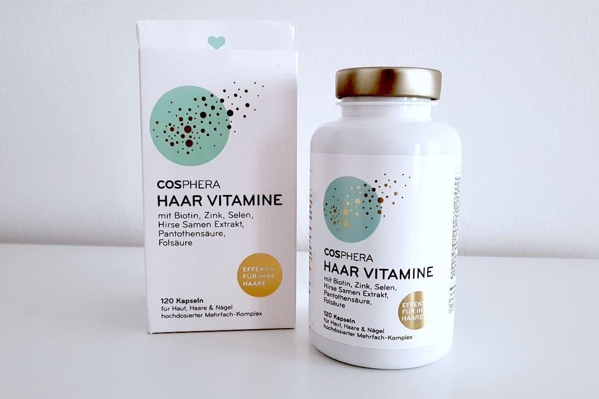 cosphera Haar Vitamine Verpackung Dose Querformat